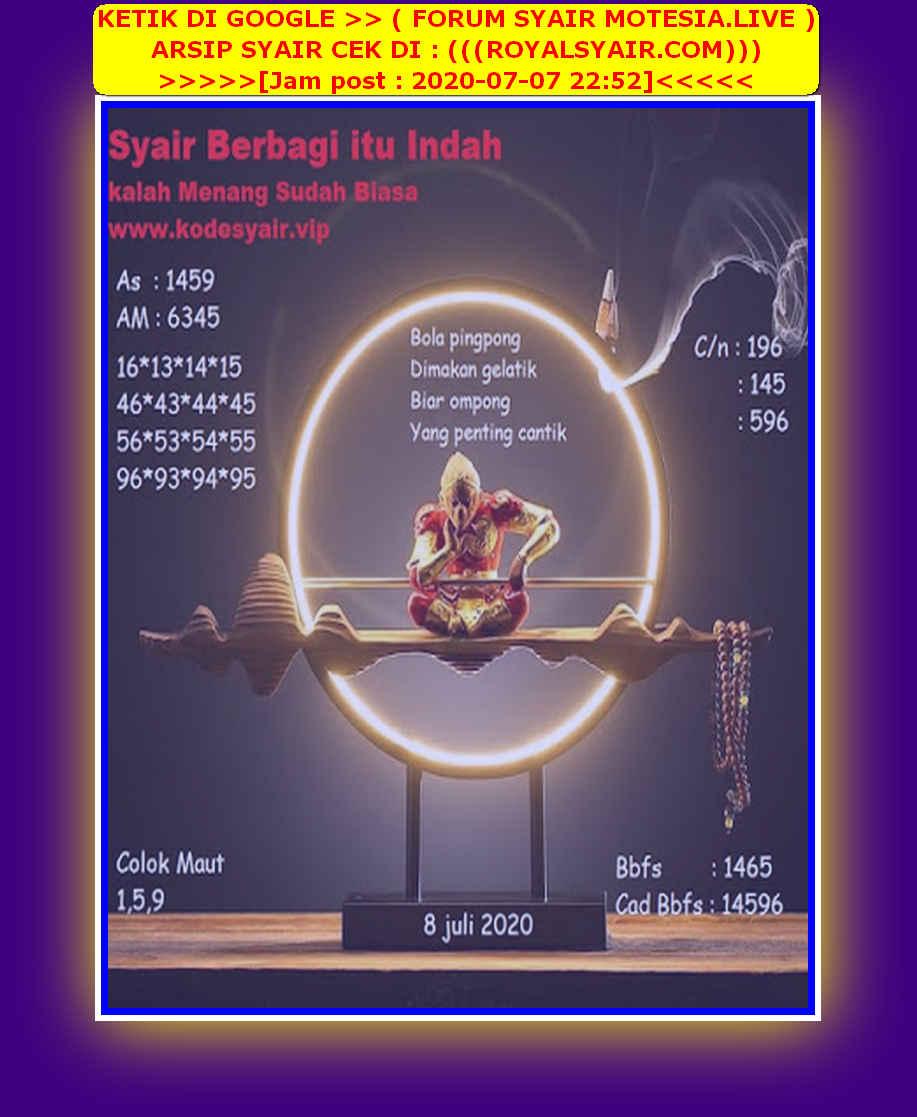 Kode syair Singapore Rabu 8 Juli 2020 258