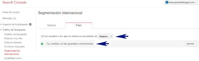 ¿Cómo orientar los resultados de búsqueda de mi blog a un país específico?