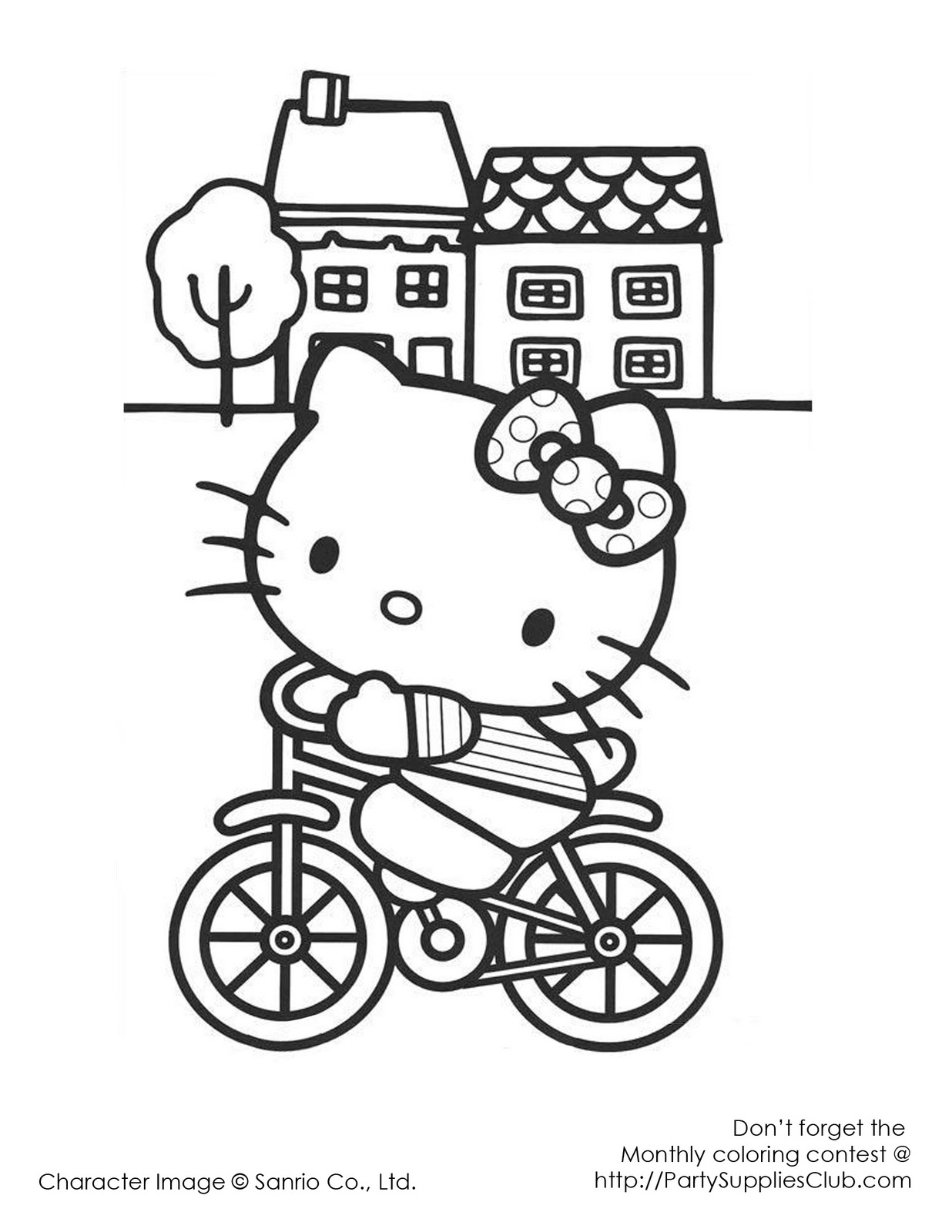 i love you hello kitty coloring pages - photo #36