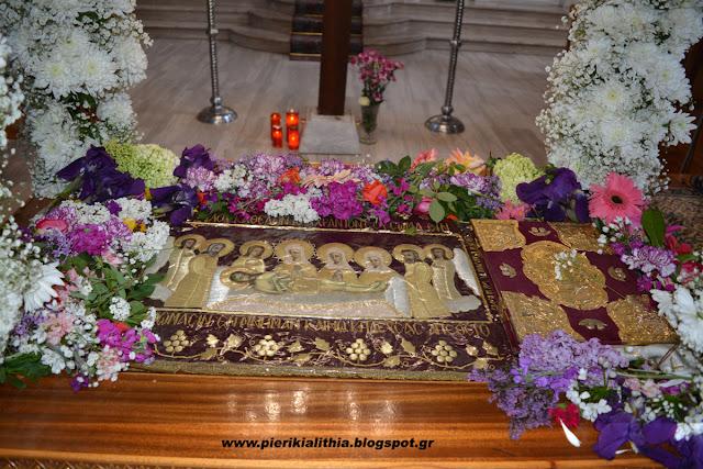 Ο επιτάφιος του Ιερού Ναού Αγίου Ιωάννη Προδρόμου στην Νέα Έφεσο Πιερίας. (ΦΩΤΟ)