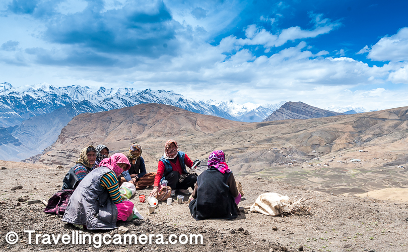 Some people rightly refer to Langza as the 'Switzerland of Spiti' though it is more brown than green. Patches of bright green fields spread on brown hills makes Langza look wonderful. Langza village houses 150 residents who work hard to retain their ancient traditions and customs.