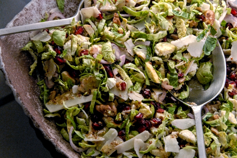 festive brussels sprouts salad dijon honey vinaigrette