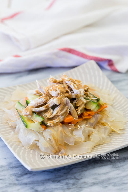 Shredded Chicken and Greenbean Noodles with Sesame Dressing02