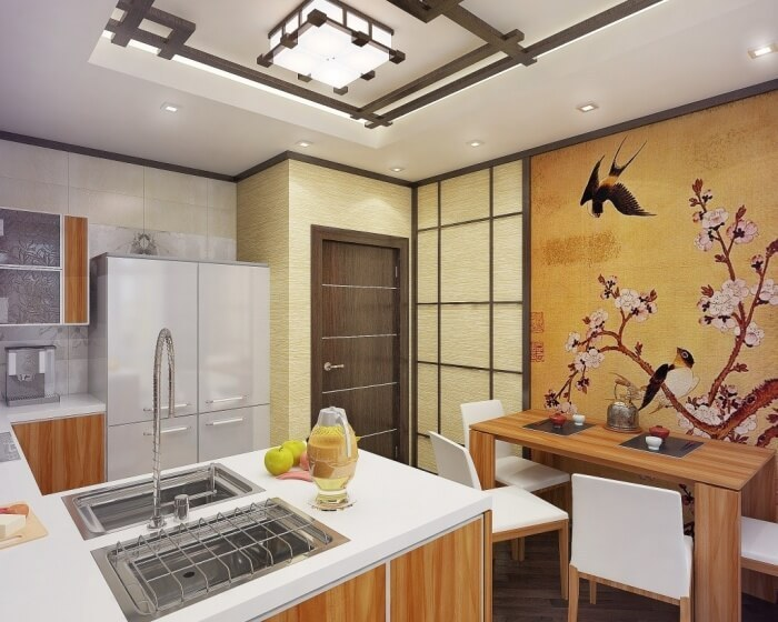 Stylist Japanese Interior For Kitchen In Your Apartment Funny