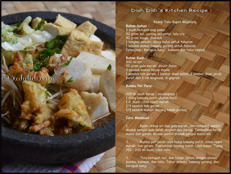 Resep Cake Pisang Diah Didi: Diah Didi's Kitchen: Sarapan Yukkk.....Tahu Kupat Magelang