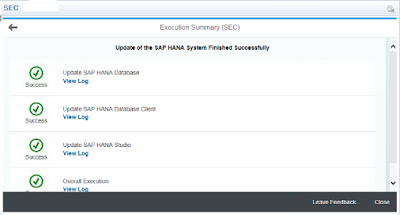 SAP HANA REVISION UPDATE – SPS10