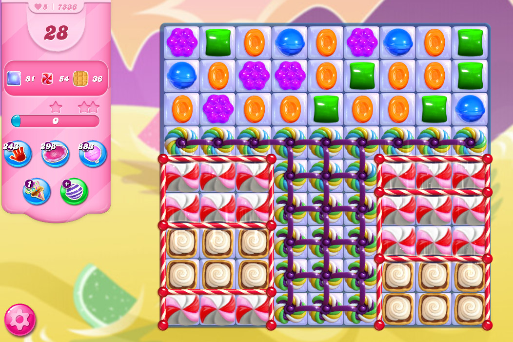 Candy Crush Saga level 7836
