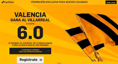 betfair supercuota 6 Valencia gana Villareal Liga 1 mayo