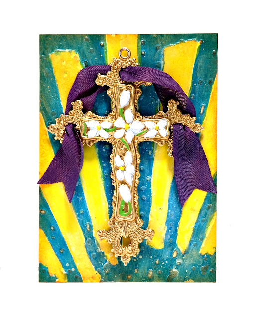 Easter Cross Artist Trading Card by Dana Tatar for Lisa Marie Jimenez