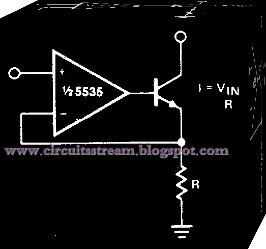Simple Voltage to Current Converter Circuit Diagram
