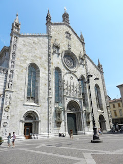 The 15th century facade of Como's Duomo
