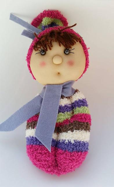 Muñeco soft con calcetín