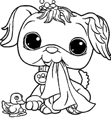 Littlest pet shop coloring pages to print for Little pet shop coloring page
