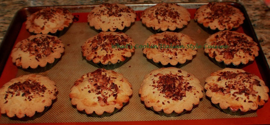 these are an Italian pastry filled with coconut cream. These are made from scratch and an Italian speciality copycat recipe from bakeries in Upstate Utica New York the name is pastaciotti in Italian and a famous dessert in local pastry shops