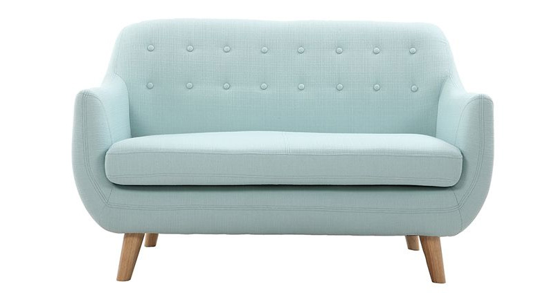 divano 2posti modello YNO rivestimento verde acqua