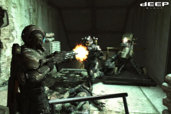 Screen Shot Of Deep Black Reloaded (2012) Full PC Game Free Download At worldofree.co