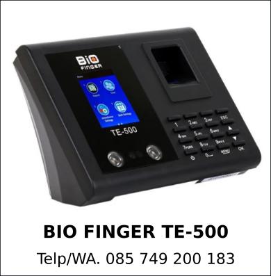 Grosir Mesin Absensi Bio Finger TE-500 Asli Murah