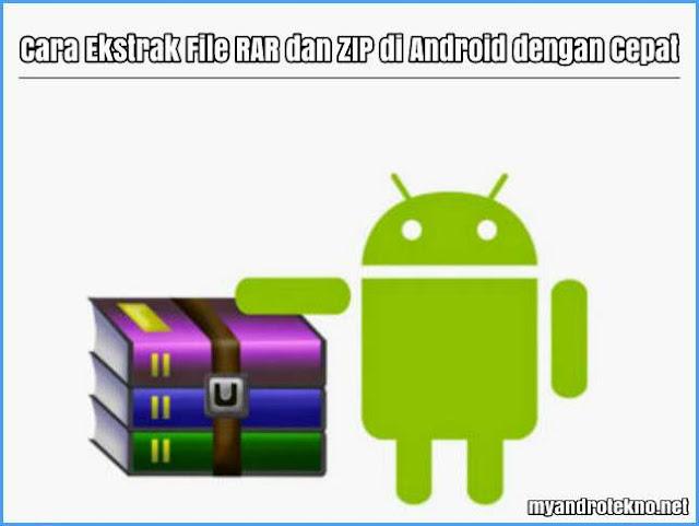 cara ekstrak file rar dan zip di android tanpa root dengan cepat dengan menggunakan zarchiver