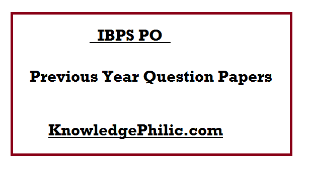 Ibps Po 2015 Model Papers Pdf