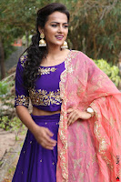 Actress Shraddha Srinath in Purple Chania Choli Cute Pics ~  Exclusive 59.jpg