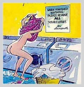 When finished washing please remove all your clothes laundramat