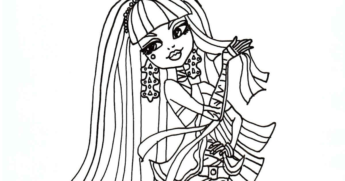 Free Printable Monster High Coloring Pages: Cleo De Nile