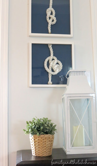 Family and the Lake House - Nautical Rope Knot Art
