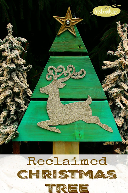 scrap wood reindeer christmas tree reclaimed country living magazine feature