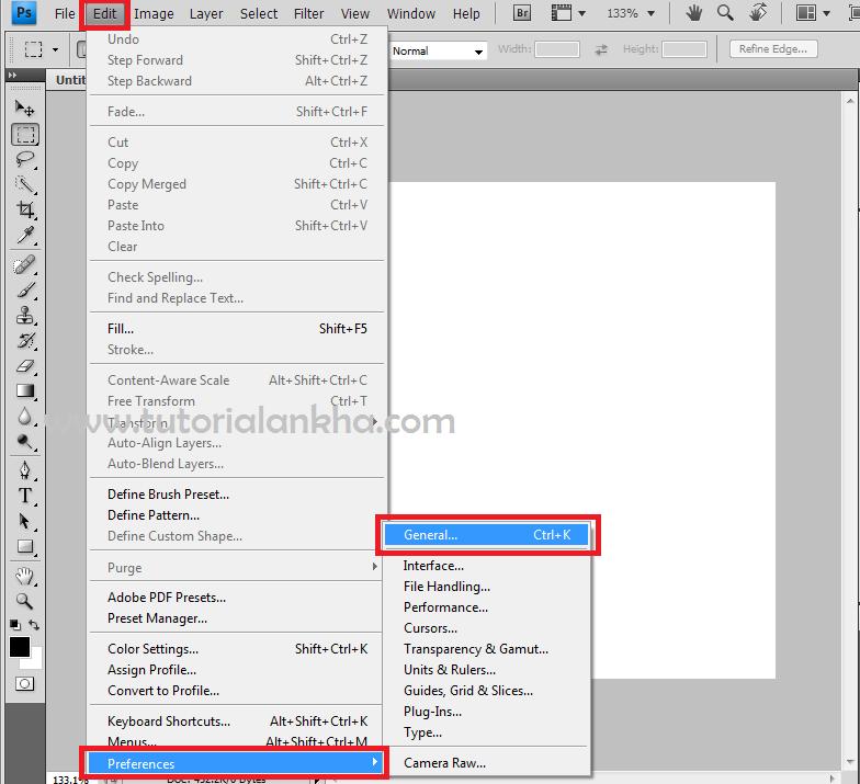 Cara mengaktifkan scroll mouse di photoshop