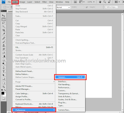 Cara mengaktifkan scroll mouse di photoshop