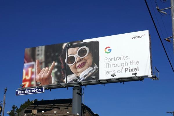 Google Portraits Pixel billboard