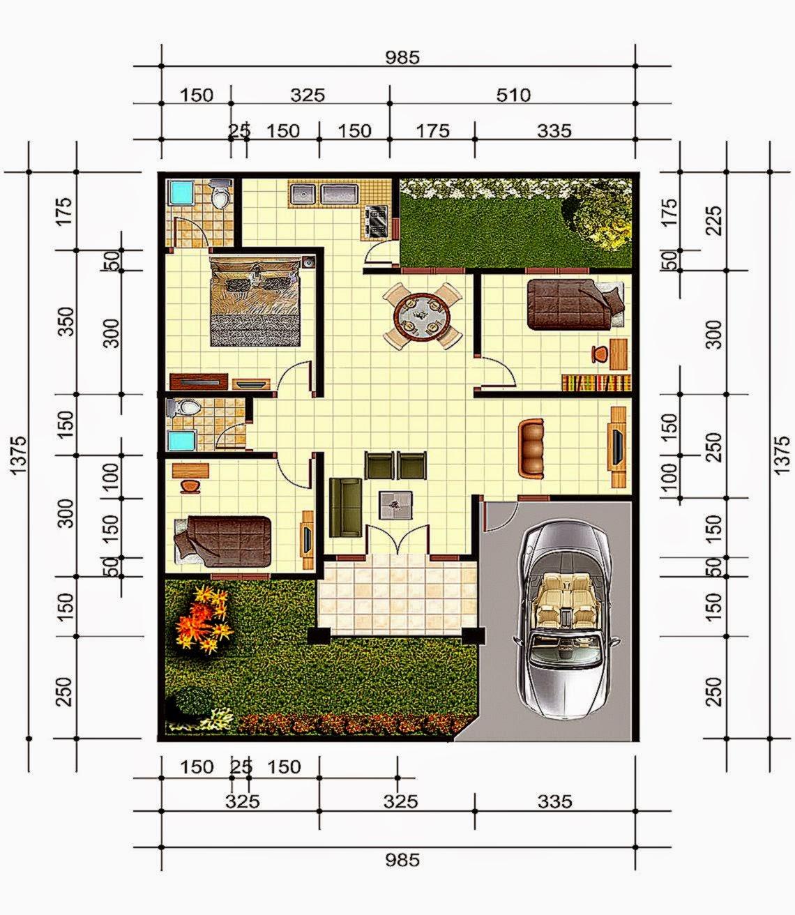 Denah Dan Gambar Rumah Minimalis Design Rumah Minimalis