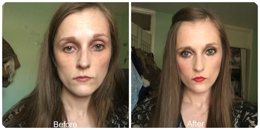 before and after rimmel fresher skin foundation