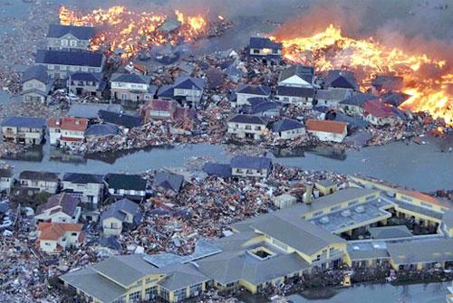 Depremde Yangın