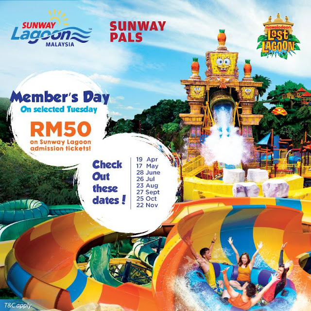 Sunway Lagoon Malaysia RM50 Ticket for Sunway Pals Member Tuesday