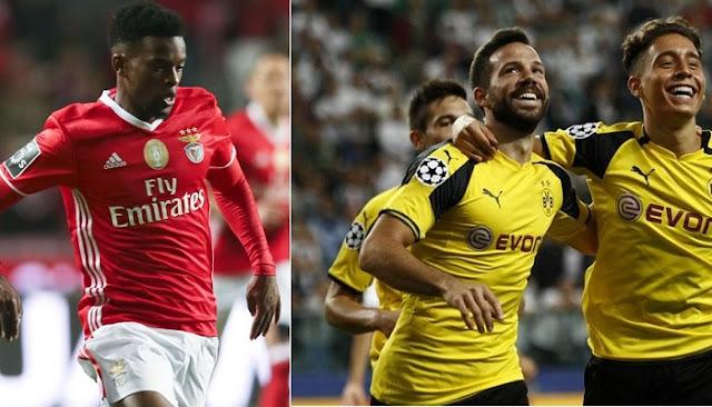 Benfica vs Borussia Dortmund en vivo