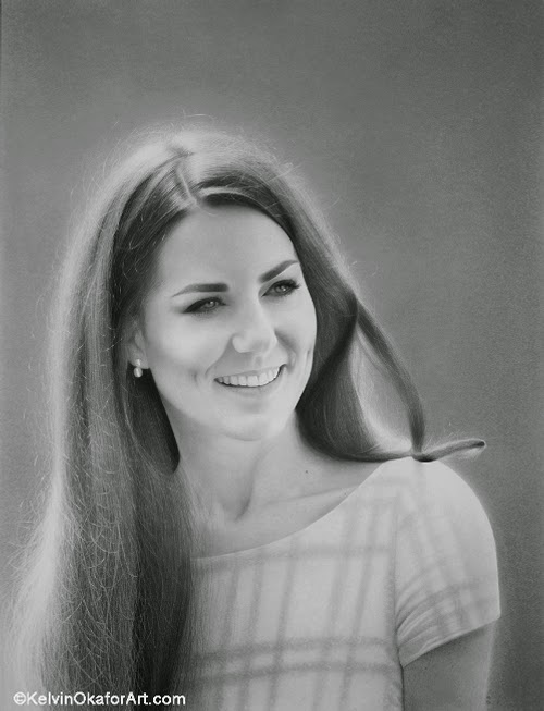 21-Catherine- Windsor-Duchess-of-Cambridge-Kelvin-Okafor-Celebrity-Portrait-Drawings-Full-of-Emotions-www-designstack-co
