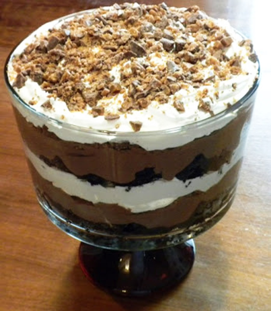 Toffee Brownie Trifle Recipe: Pam's Midwest Kitchen Korner: Death By Chocolate Trifle