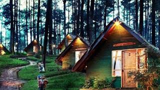 Wisata Alam Cikole Lembang Rumah Hobbit serta Outbound