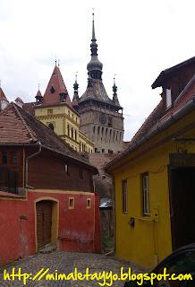 Sighisoara - Torre del reloj desde la Pensión Citadela