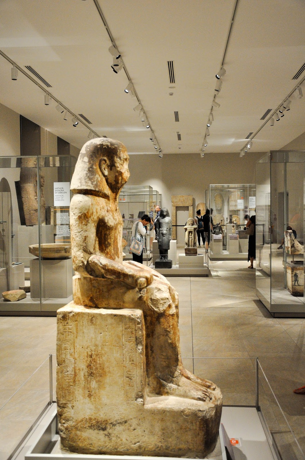 Inside the Egyptian Museum, Turin, Italy
