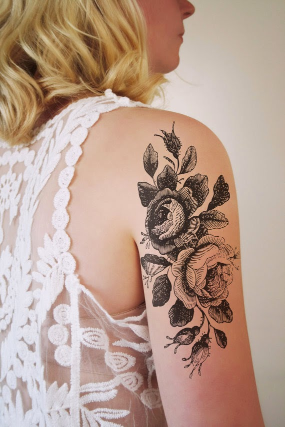 rose temporary tattoo