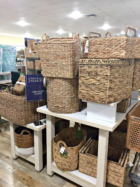 basket selection at HomeGoods