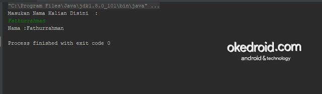 Output Hasil Program Input dan Output Menggunakan BufferedReader di Java