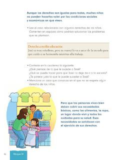 Apoyo Primaria Formación Cívica y Etica 2do. Grado Bloque IV Lección 2 Los derechos de niños y niñas