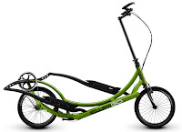 ElliptiGO 8C outdoor elliptical bike, with 8 speeds/gears, capable of hill climbs up to 20-30% grade, with Ergon multi-position grips