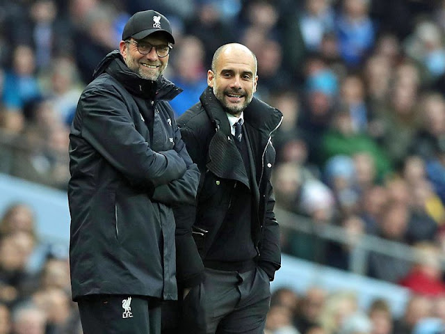 EPL: Klopp, Guardiola nominated for Manager of the Year