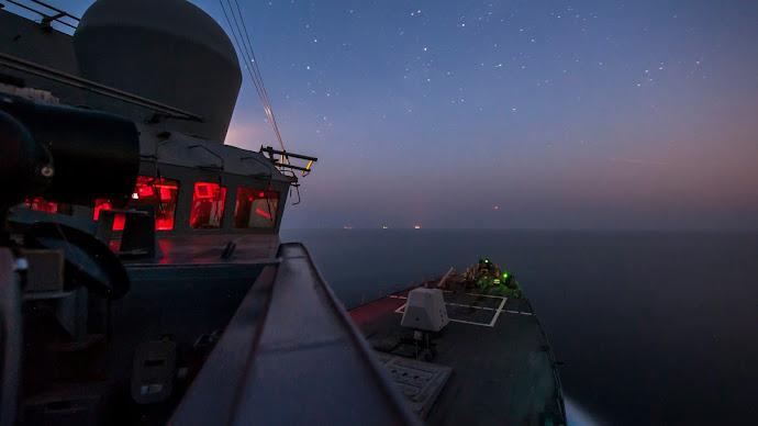 Wallpaper: View from USS Truxtun