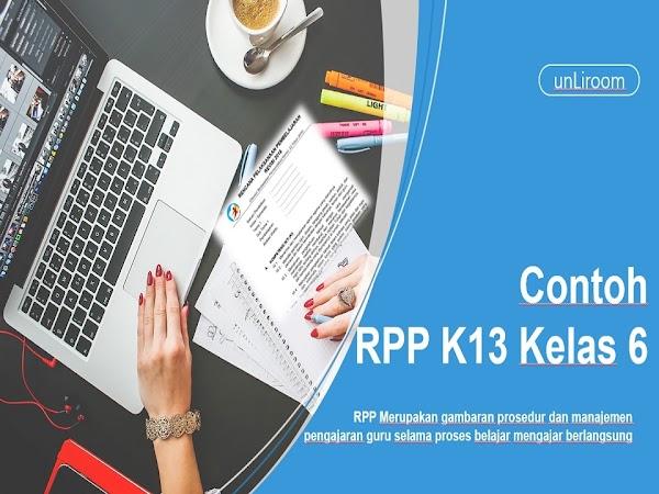 Contoh RPP K13 Kelas 6 Revisi 2018| Literasi,PPK,4C,HOTS