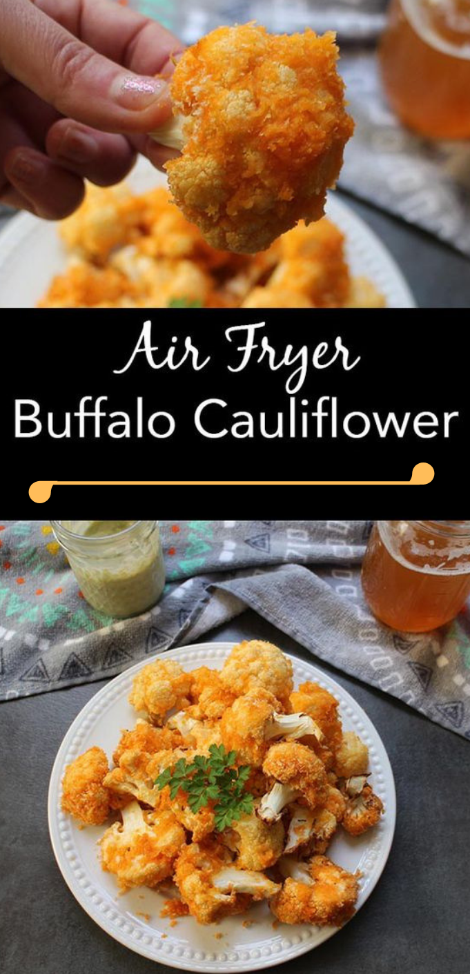 AIR FRYER BUFFALO CAULIFLOWER #cauliflower #vegetarian